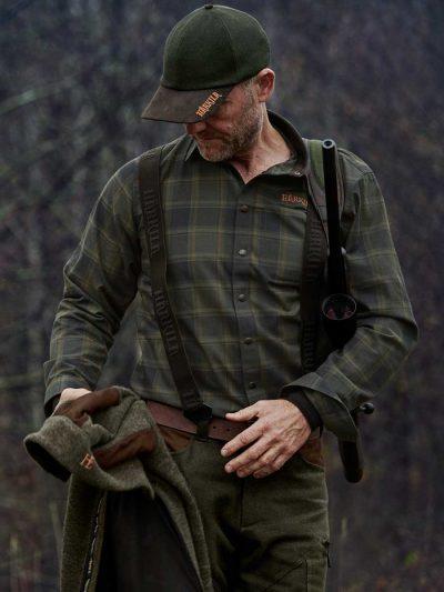HARKILA Shirts - Mens Metso Active - Willow Green Check