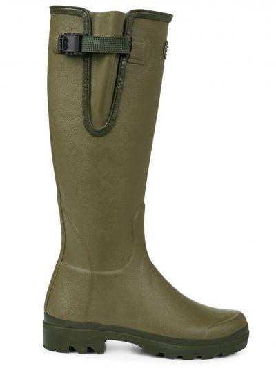 LE CHAMEAU Boots - Ladies Vierzon Jersey Lined - Vert Vierzon