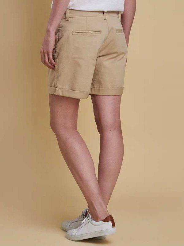 Barbour Ladies Essential Shorts---Stone