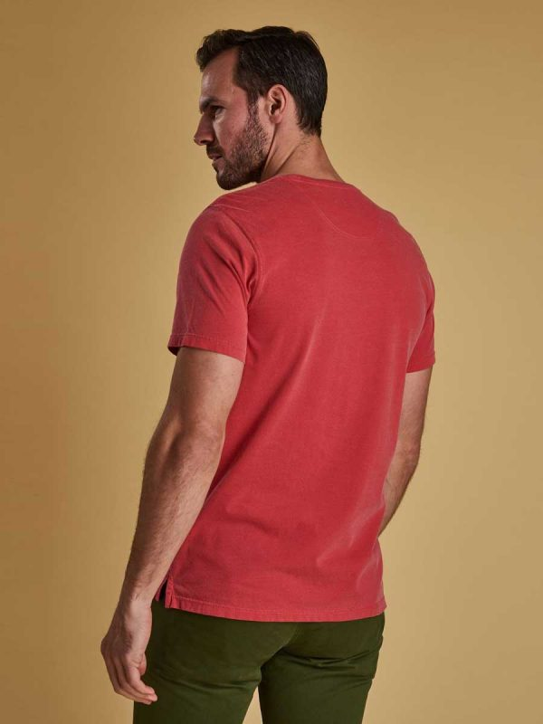 Barbour Garment Dyed T-Shirt - Risk Red