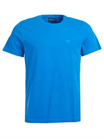 Barbour Garment Dyed T-Shirt - Sport Blue
