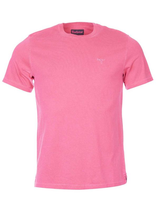 Barbour Garment Dyed T-Shirt - Fuchia