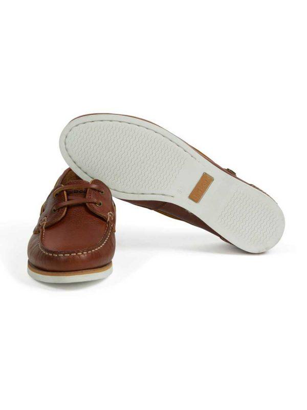 Barbour Ladies Bowline Boat Shoes - Cognac
