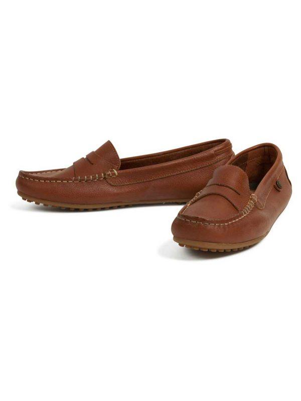 Barbour Ladies Danica Driving Shoes - Cognac