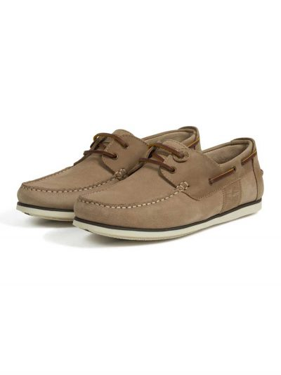 Barbour Men's Capstan Boat Shoes - Stone/Tan
