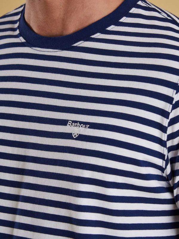 Barbour Mens Delamere Stripe T-Shirt - Inky Blue