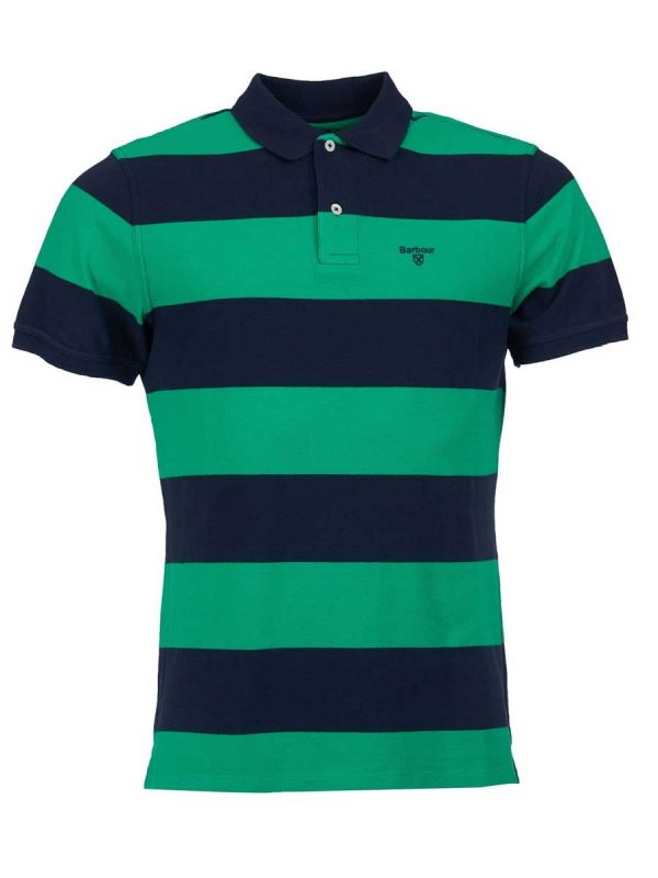 Barbour Mens Harren Stripe Polo Shirt - Bright Green
