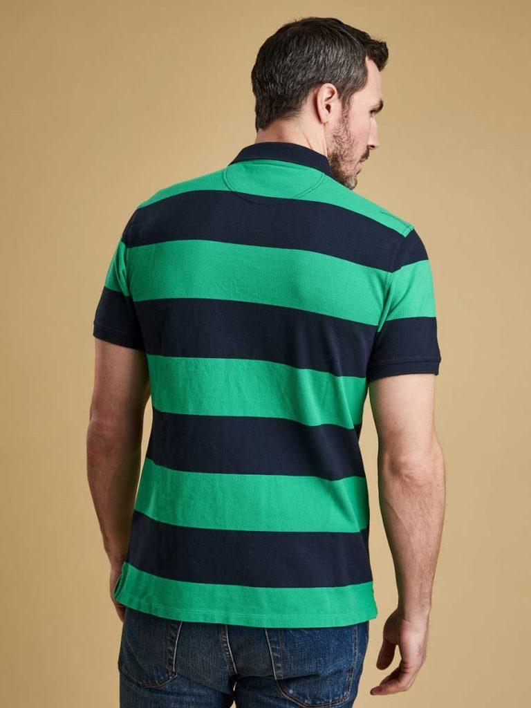 Barbour Mens Harren Stripe Polo Shirt - Bright Green