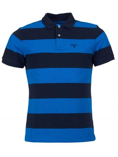 Barbour Mens Harren Stripe Polo Shirt - Sport Blue
