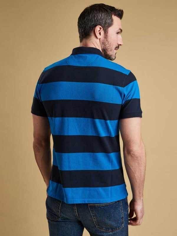 Barbour Mens Harren Stripe Polo Shirt - Sport Blue