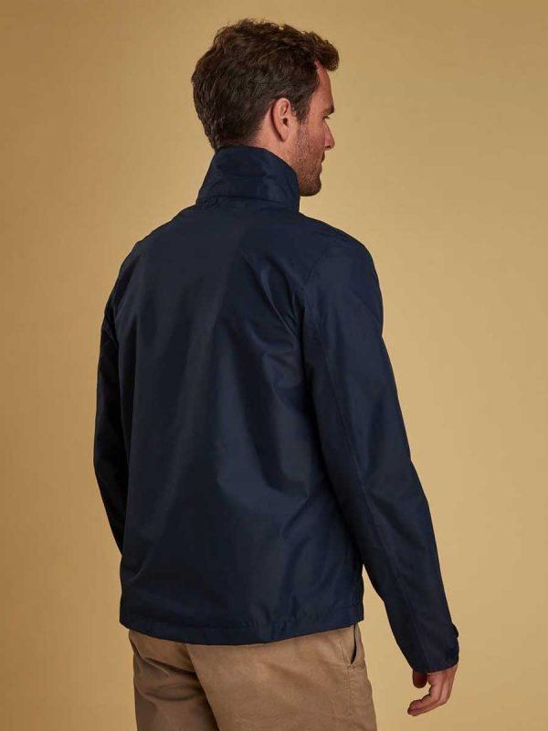 Barbour Rye Waterproof Jacket - Navy (back)