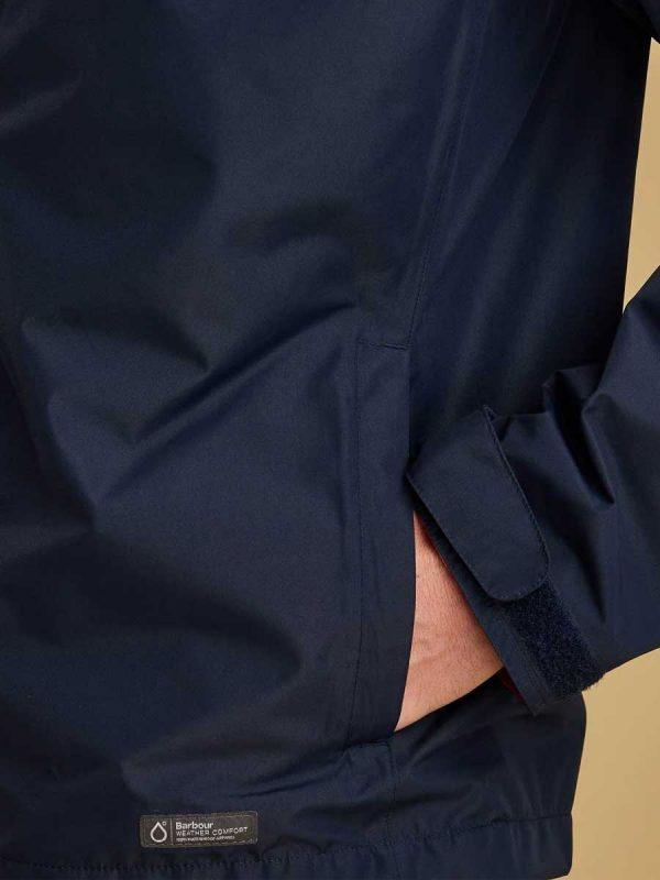 Barbour Rye Waterproof Jacket - Navy (pocket)