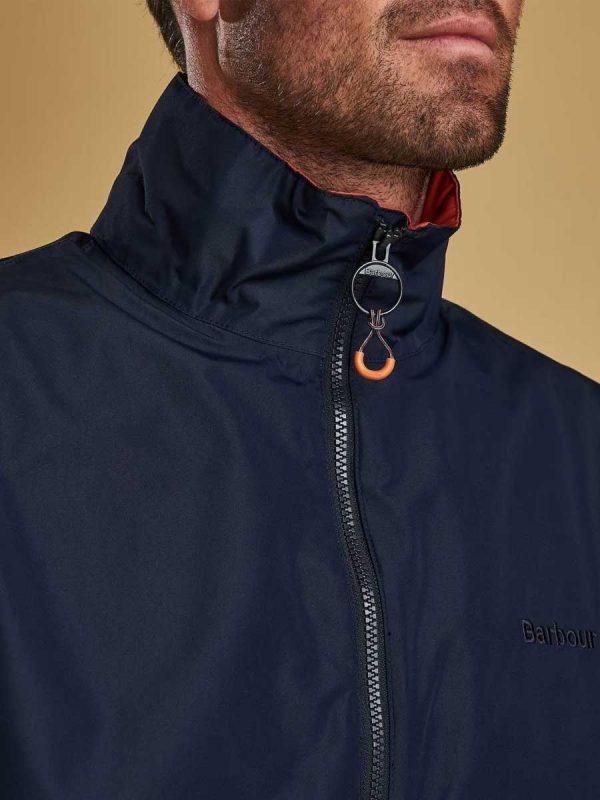 Barbour Rye Waterproof Jacket - Navy (zip)