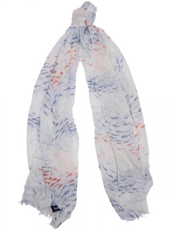 Barbour Shoaling Fish Print Wrap