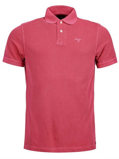 Barbour-Washed-Sports-Polo-Shirt---Fuchia