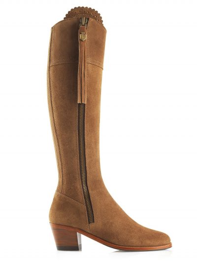 FAIRFAX & FAVOR Boots - Ladies Heeled Regina - Tan Suede