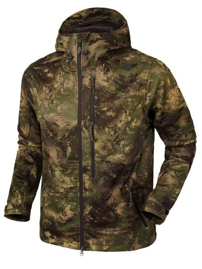 Härkila Lagan Mens Stretch Softshell Jacket - Forest Green Camo