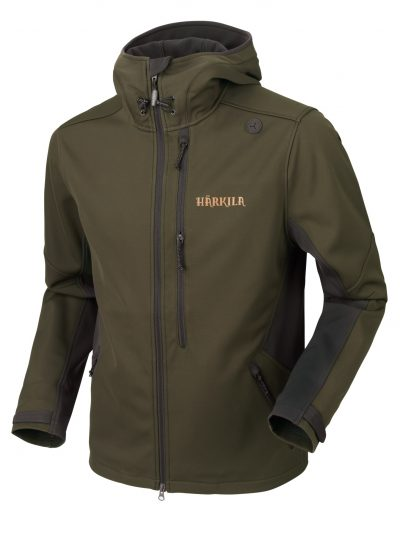 Härkila Lagan Mens Stretch Softshell Jacket - Willow Green / Deep Brown