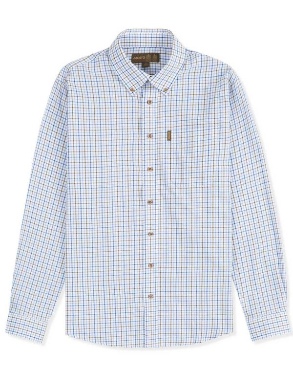 Musto-Classic-Button-Down-Shirt-Oban-Blue