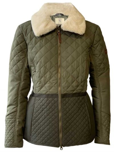 AIGLE Jacket - Umbli Quilted Water Repellent - Khaki & Bronze