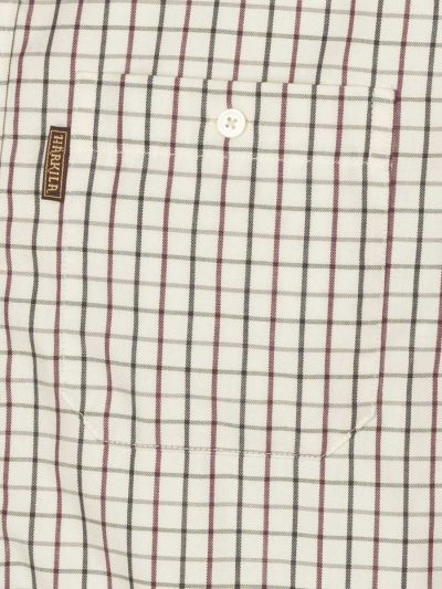 HARKILA Shirts - Mens Stornoway Active - Burgundy Check