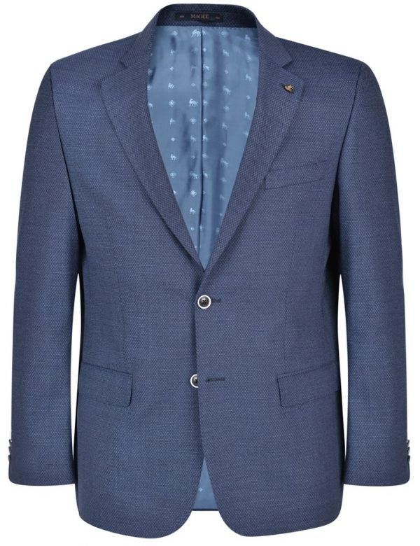 MAGEE Jacket - Mens Classic Fit - Navy Micro-Design