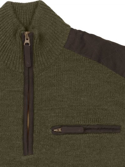 SEELAND Half-Zip - Mens Buckthorn Jersey - Shaded Olive