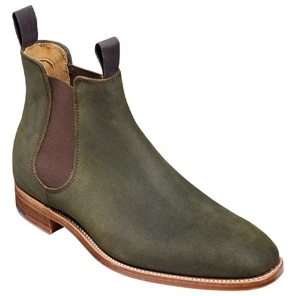 BARKER-Mansfield-Boots-–-Mens-Chelsea-–-Green-Waxy-Suede