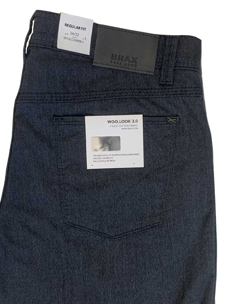 BRAX Jeans - Mens Cooper WOO.LOOK 2.0 Hi-Flex - Midnight Blue