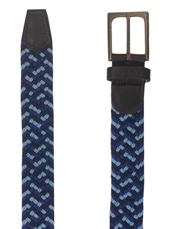 Barbour Mens Ford Belt - Blue/Blue