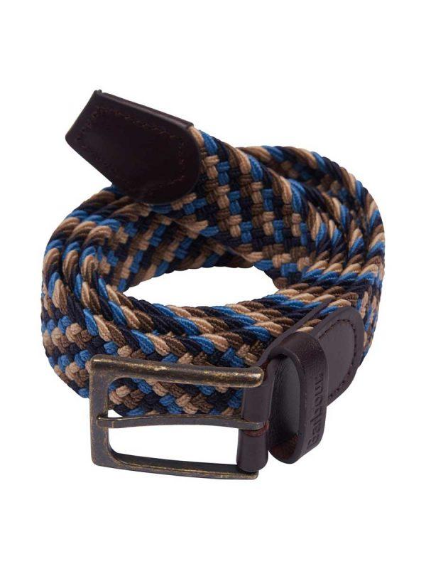 Barbour Mens Ford Belt - Blue/Navy/Stone