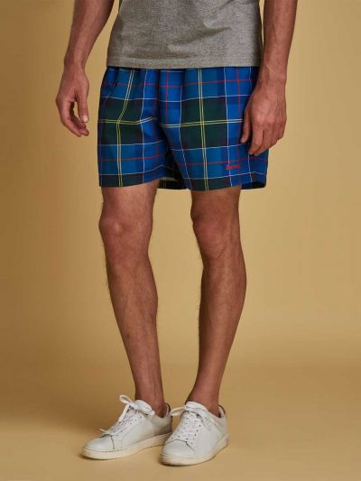 Barbour Mens Tartan Swim Shorts - Blue