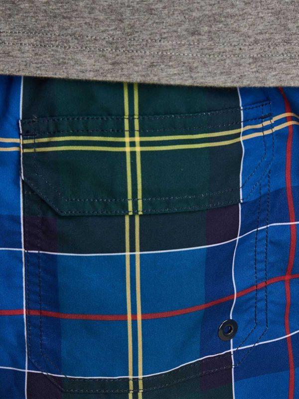 Barbour Mens Tartan Swim Shorts - Blue