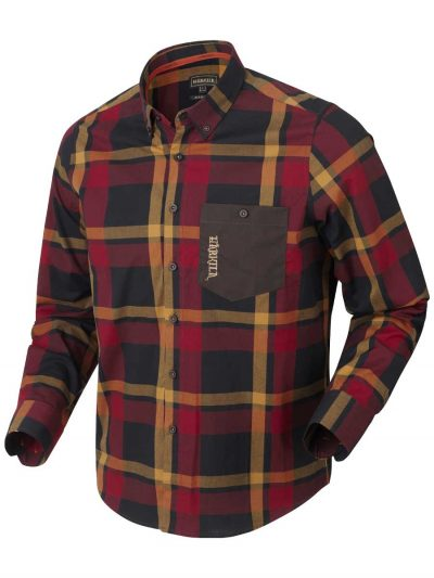 Härkila Mens Amlet Shirt - Red Black Check