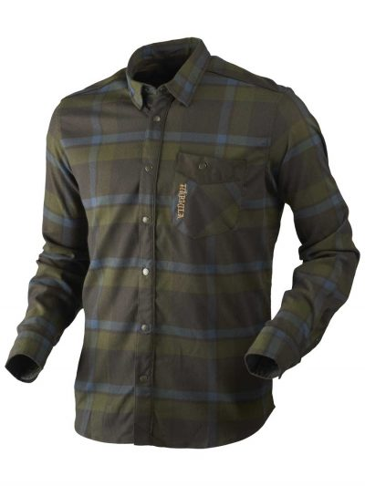 Härkila Mens Angot Shirt - India Blue Ink & Shadow Brown