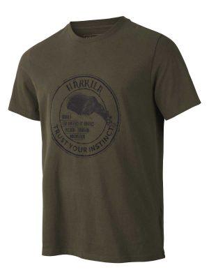Härkila Mens Wildlife Bear T-Shirt - Willow Grey
