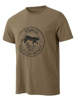 Härkila Mens Wildlife Lynx T-Shirt - Khaki