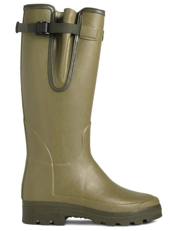 LE CHAMEAU Boots - Mens Vierzonord Neoprene Lined - Vert Vierzon