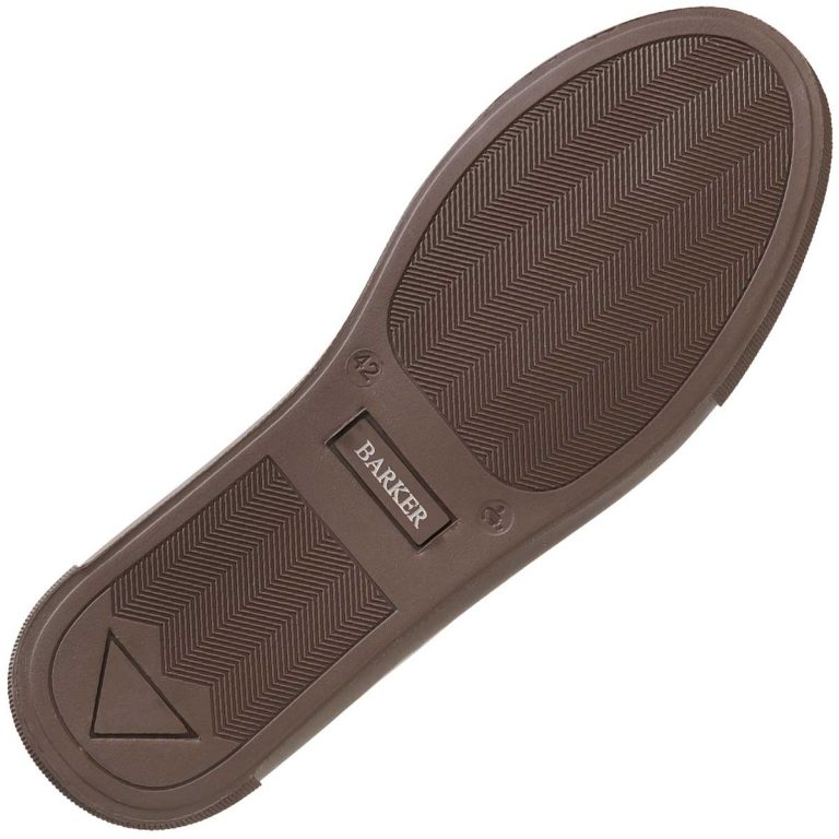 Barker Deck Shoe Brown Rubber Sole