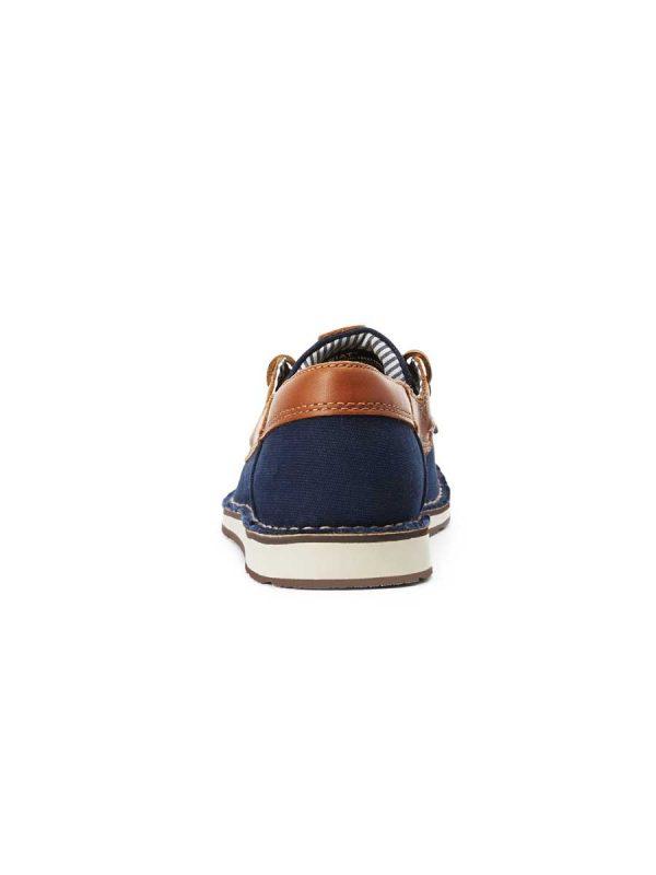 ARIAT Deck Shoes - Womens Cruiser Castaway - Navy Canvas Honeycomb