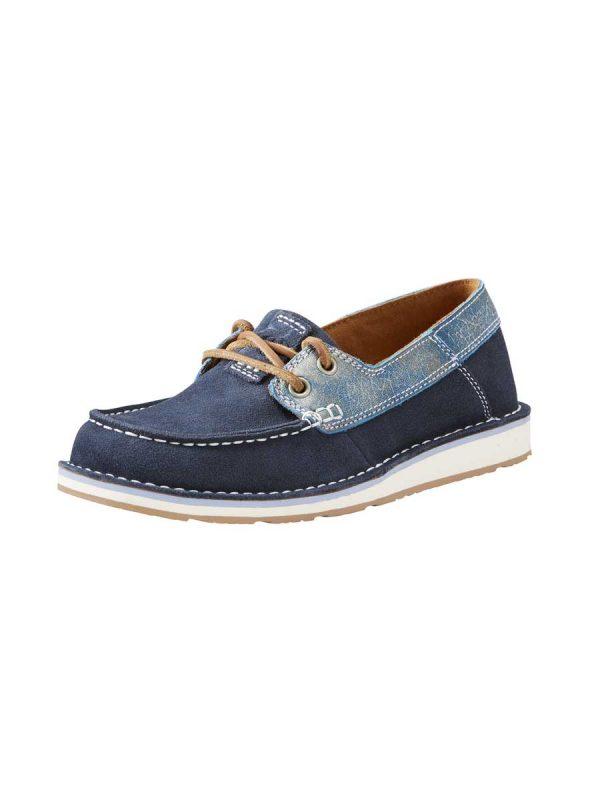 ARIAT Deck Shoes - Womens Cruiser Castaway - Navy Ice Blue