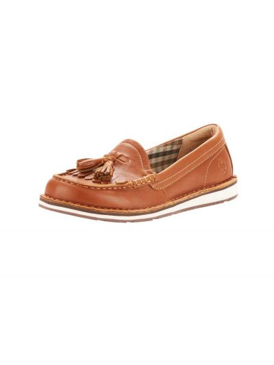 ARIAT Deck Shoes - Womens Tassel Cruiser - Honeycomb