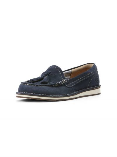 ARIAT Deck Shoes - Womens Tassel Cruiser - Navy