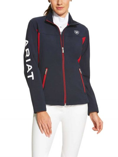 ARIAT Jacket - Womens New Team Softshell - Team Navy
