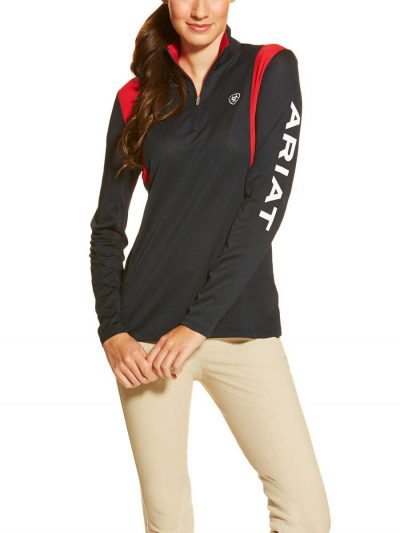ARIAT-Womens-Sunstopper-Quarter--Zip---Team-Navy