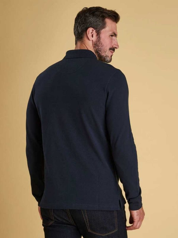 Barbour Long-Sleeved Sports Polo Navy