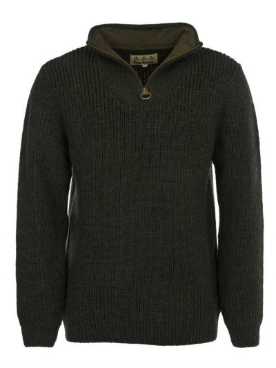 Barbour New Tyne Half Zip Jumper Olive
