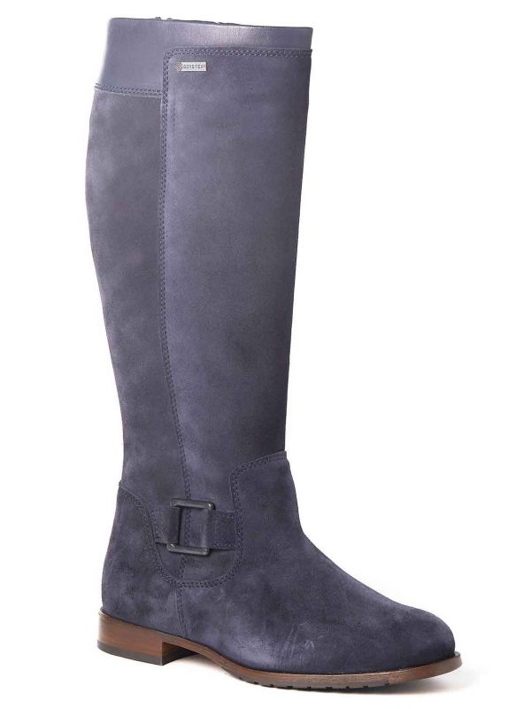 DUBARRY Limerick Boots - Ladies Waterproof Gore-Tex Leather- French Navy Suede