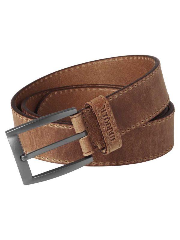 HARKILA-Mens-Arvak-Leather-Belt---Dark-Sand