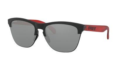 OAKLEY Frogskins Lite Sunglasses - Matte Black / Translucent Red - Prizm Black Iridium Lens